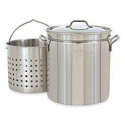 Bayou Classic® Stainless Steel Stock Pot with Basket and Vented Lid