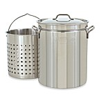 Bayou Classic 44 qt. Stock Pot with Basket and Vented Lid in Stainless Steel