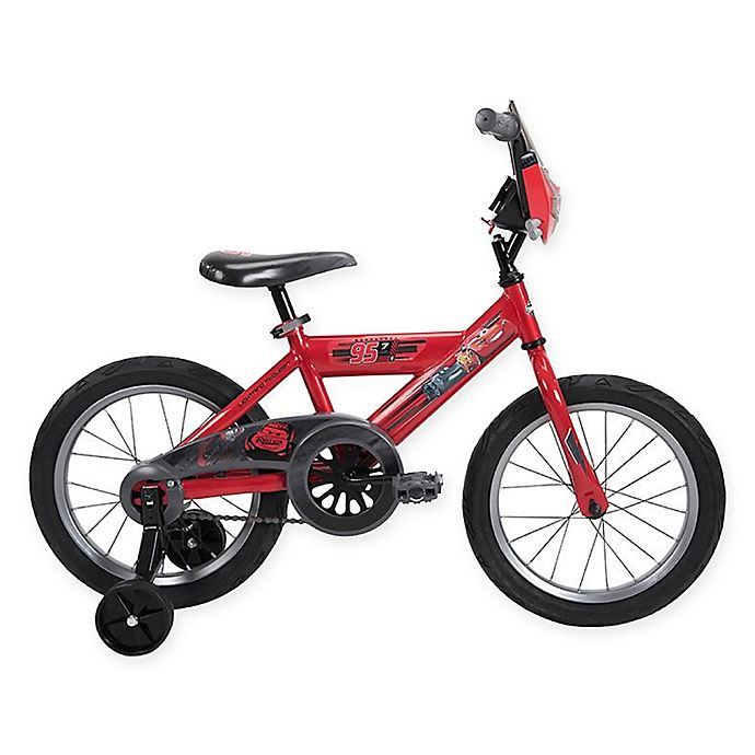 Alternate image 1 for Huffy® Disney® Cars 16-Inch Bike in Red