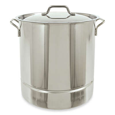 Bayou Classic® Tri-Ply Bottom Stainless Steel Stock Pot with Vented Lid