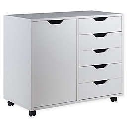 Winsome Trading Halifax 5-Drawer Wide Storage Cabinet