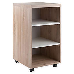 Winsome Trading Kenner 3-Shelf Mobile Storage Cabinet in Brown