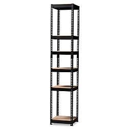 Baxton Studio Nancy 5-Shelf Metal Closet Storage Organizer