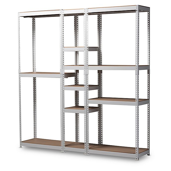 Alternate image 1 for Baxton Studio Nancy 10-Shelf Closet Organizer in White
