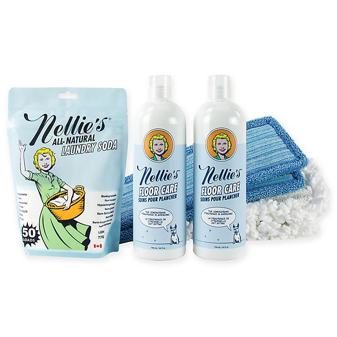 Alternate image 1 for Nellie's 4-Piece Floor Care Set
