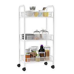 Lavish Home 3-Tier Narrow Metal Storage Cart in White