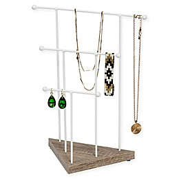 Honey-Can-Do® Geo 3-Tier Jewelry Stand in White