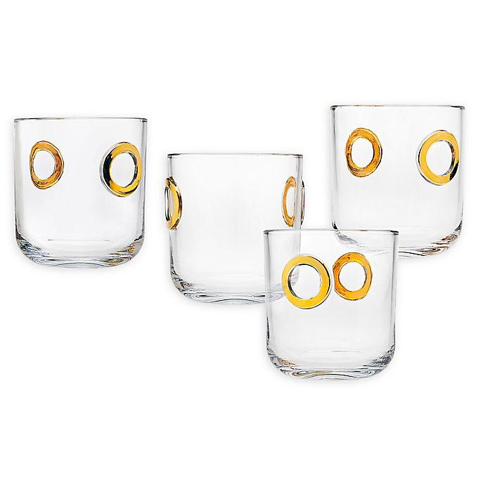 Alternate image 1 for Godinger® Nico Double Old Fashioned Glasses (Set of 4)