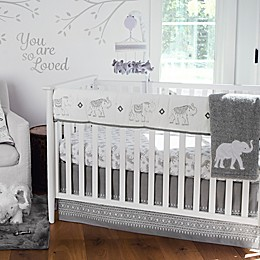 Levtex Baby® Elephant Parade Crib Rail Guard in White/Grey