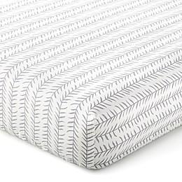Levtex Baby® Kipton Leaf Fitted Crib Sheet in Grey