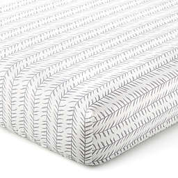Levtex Baby® Kipton Leaf Fitted Crib Sheet in Grey