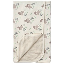 Gerber® Squirrel Reversible Organic Cotton Baby Blanket in Brown