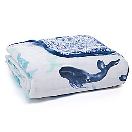 aden + anais® Seafaring Receiving Blanket in Blue