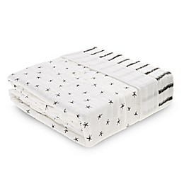 aden® aden + anais® Midnight Receiving Blanket in Black