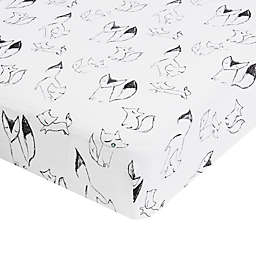 aden® by aden + anais® Trotting Fox Fitted Crib Sheet in Grey