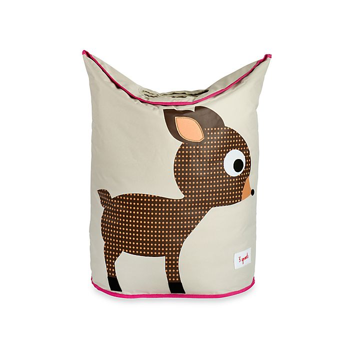 Alternate image 1 for 3 Sprouts Deer Laundry Hamper in Brown