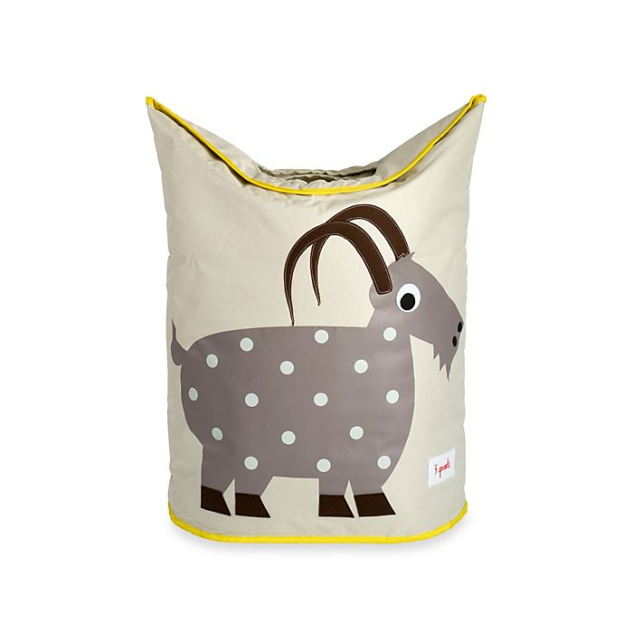 Alternate image 1 for 3 Sprouts Goat Laundry Hamper in Grey
