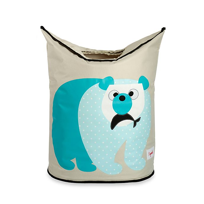 Alternate image 1 for 3 Sprouts Polar Bear Laundry Hamper in Blue