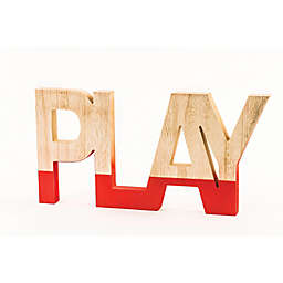 """""""Play"""" Wall Art in Red/Natural"""