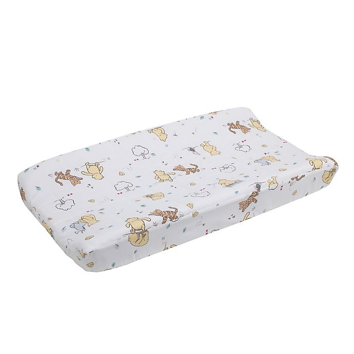 Alternate image 1 for Disney® Classic Pooh Quilted Changing Pad Cover in Ivory