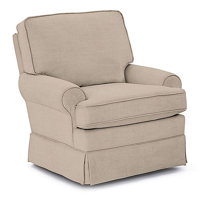 Alternate image 1 for Best Chairs Custom Quinn Swivel Glider in Tan Fabrics