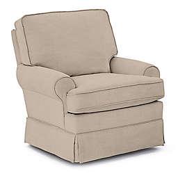Best Chairs Custom Quinn Swivel Glider in Tan Fabrics