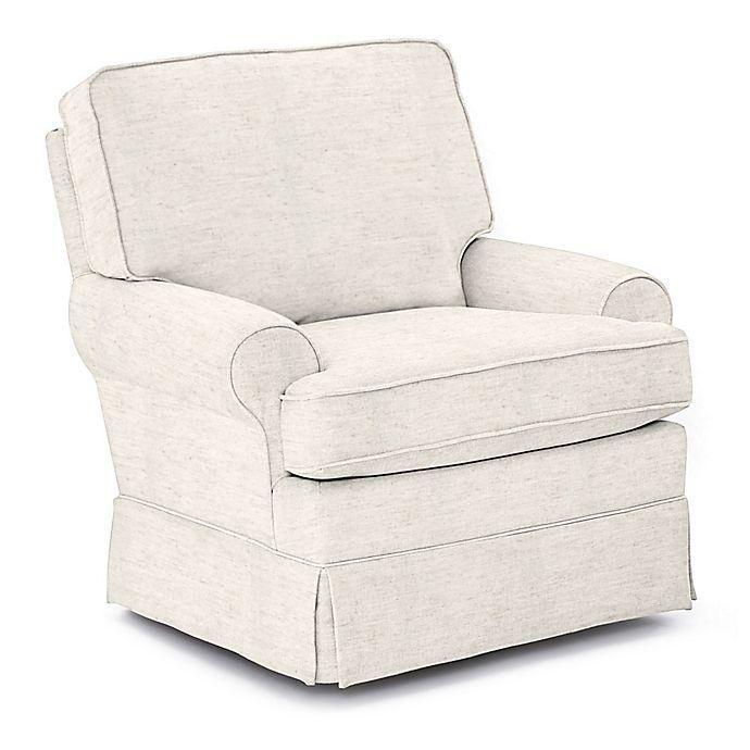 Alternate image 1 for Best Chairs Custom Quinn Swivel Glider in Cream Fabrics