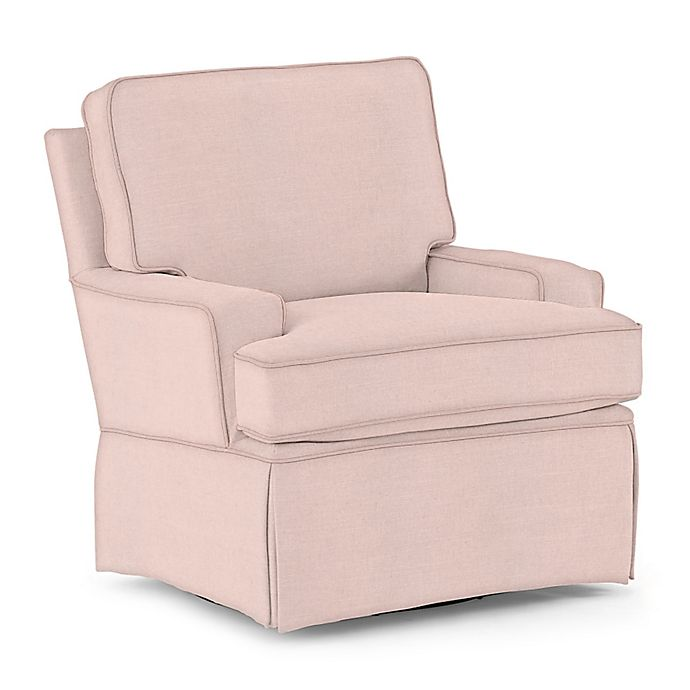 Awesome Best Chairs Custom Trinity Swivel Glider In Pink Fabrics Theyellowbook Wood Chair Design Ideas Theyellowbookinfo