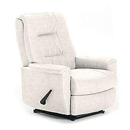 Best Chairs Custom Felicia Swivel Glider Recliner in Cream Fabrics