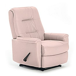 Best Chairs Custom Felicia Swivel Glider Recliner in Pink Fabrics