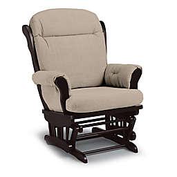 Best Chairs Custom Charleston Wood Glider in Tan Fabrics