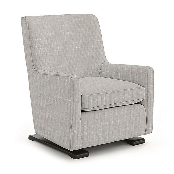 Alternate image 1 for Best Chairs Custom Coral Swivel Glider in Grey Fabrics