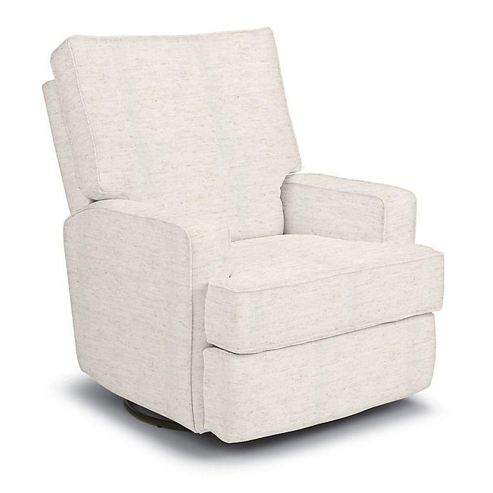 Best Chairs Custom Kersey Swivel Glider Recliner In Creme