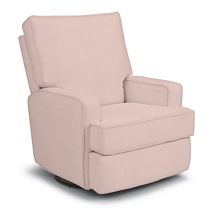 Alternate image 1 for Best Chairs Custom Kersey Swivel Glider Recliner in Pink Fabrics