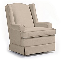Best Chairs Custom Roni Swivel Glider in Tan Fabrics