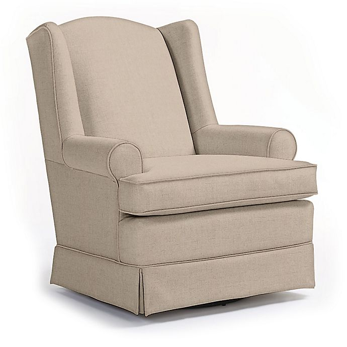 Alternate image 1 for Best Chairs Custom Roni Swivel Glider in Tan Fabrics
