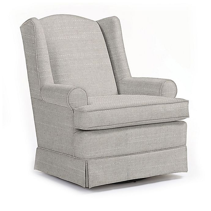 Alternate image 1 for Best Chairs Custom Roni Swivel Glider in Grey Fabrics