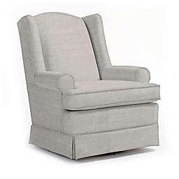 Best Chairs Custom Roni Swivel Glider in Grey Fabrics