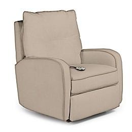 Best Chairs Custom Ingall Power Rocker Recliner in Tan Fabrics