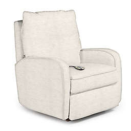 Best Chairs Custom Ingall Power Rocker Recliner in Cream Fabrics