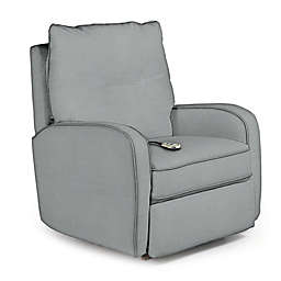 Best Chairs Custom Ingall Power Rocker Recliner in Blue Fabrics