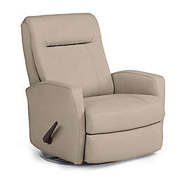 Best Chairs Custom Costilla Swivel Glider Recliner in Tan Fabrics