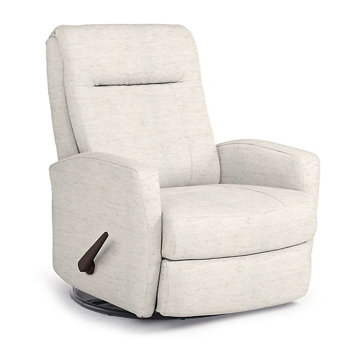 Best Chairs Custom Costilla Swivel Glider Recliner In Cream Fabrics