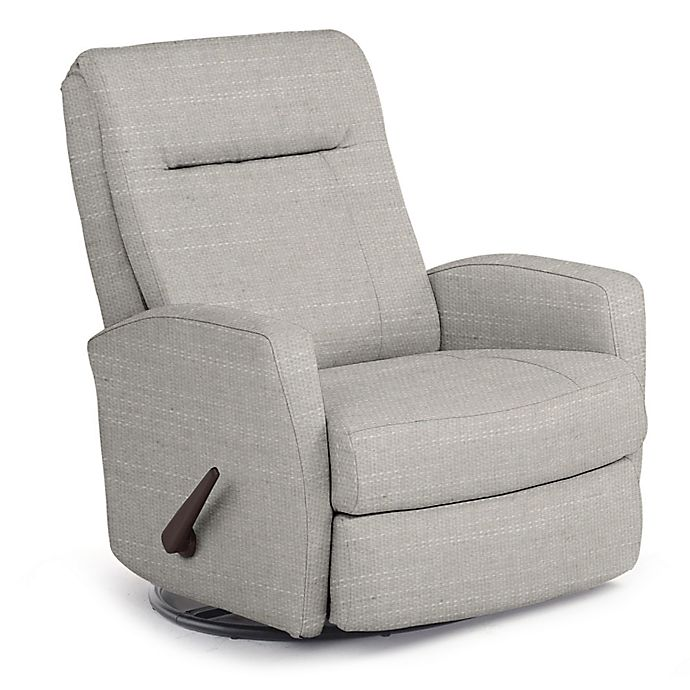 Alternate image 1 for Best Chairs Custom Costilla Swivel Glider Recliner in Grey Fabrics