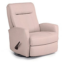 Best Chairs Custom Costilla Swivel Glider Recliner in Pink Fabrics