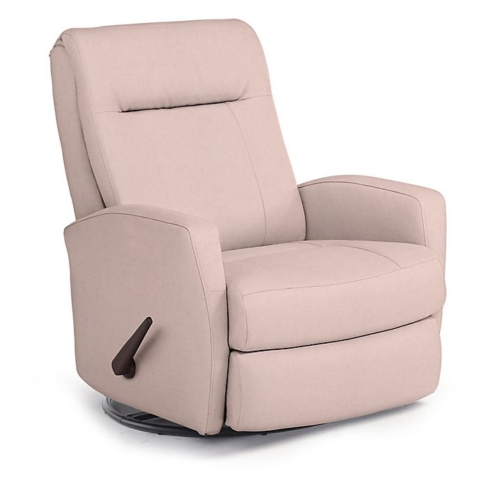 Alternate image 1 for Best Chairs Custom Costilla Swivel Glider Recliner in Pink Fabrics