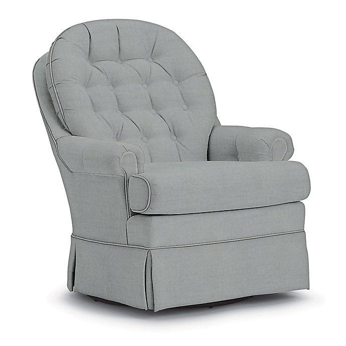 Alternate image 1 for Best Chairs Custom Beckner Swivel Glider in Blue Fabrics