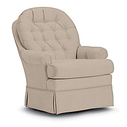 Best Chairs Custom Beckner Swivel Glider in Tan Fabrics