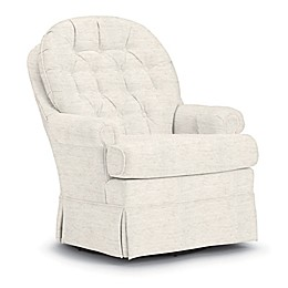 Best Chairs Custom Beckner Swivel Glider in Cream Fabrics
