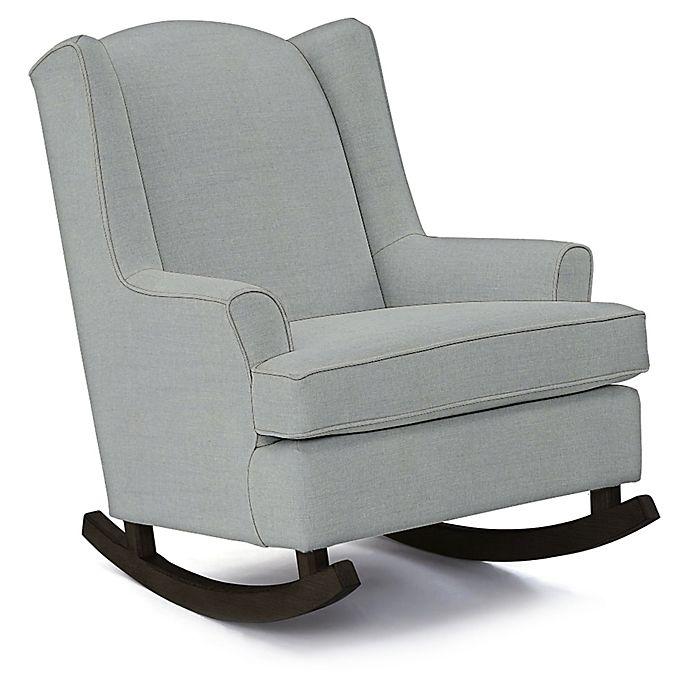 Alternate image 1 for Best Chairs Custom Willow Runner Rocker in Blue Fabrics